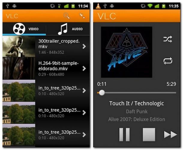 Der VLC Mediaplayer spielt die bekanntesten Mediendatein nun auch auf Android Smartphones und Tablets ab. Foto. videolan.org.
