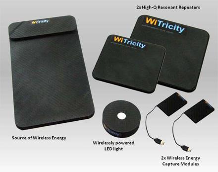 Das WIT-2000 Kit ermöglicht es Anwendern die Einsatzmöglichkeiten für WiTricity-Patente betreffend drahtlose Energieübertragung zu demonstrieren. (Foto: WiTricity)