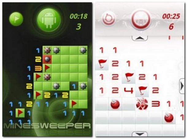 Suchtpotential mit Blickfang: aiMinesweeper ist eine der besten Android Umsetzungen (Bild links).