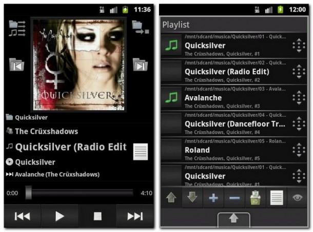 Schlicht, aber konfigurationsreich zeigt sich der Player (Bild links). Die Titelreihung erfolgt bequem per Drag&Drop (Bild rechts).