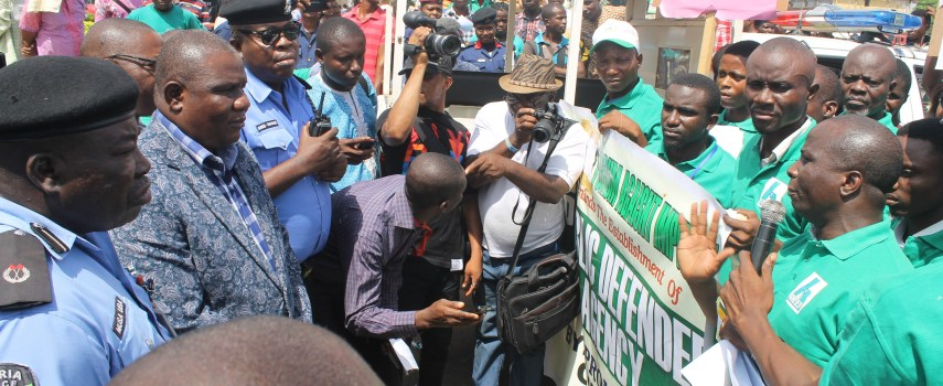 ANEEJ HOLDS RALLY IN BENIN CITY, CALLS FOR AN END TO HUMAN RIGHTS VIOLATIONS