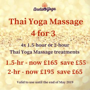 Xmas sale - Thai Massage 2hr + 1.5 hr