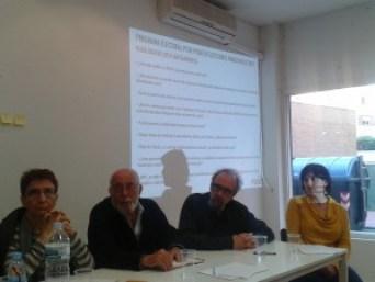 Arenillas, Mangada, Gago y Moreno en un momento del debate