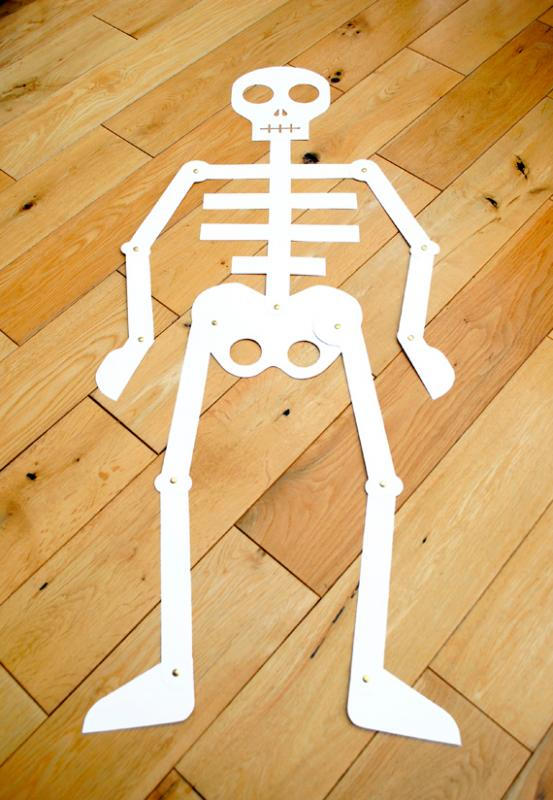 Manualidades para niños: Esqueleto para imprimir y armar