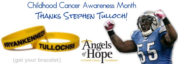 Stephen Tulloch 55 September Childhood Cancer Awareness