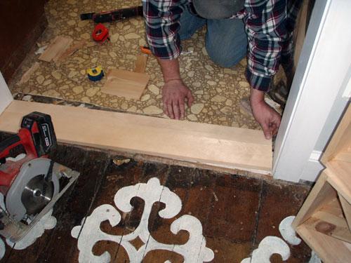 Threshold Between Dining Room & Kitchen