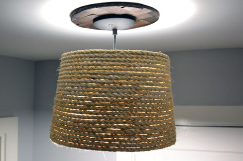 Rope Lamp Shade At Night