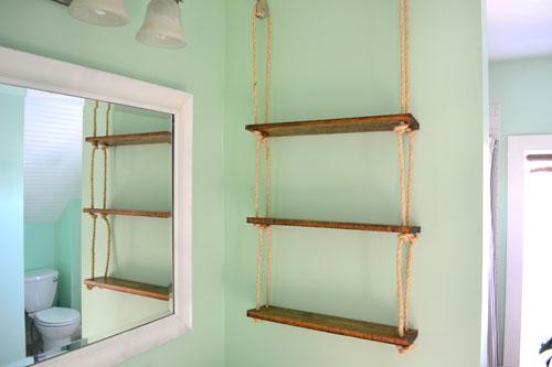 Installed Rope Shelf