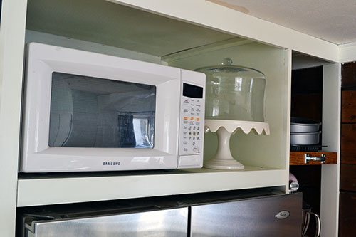 Kitchen Pantry Microwave Shelf