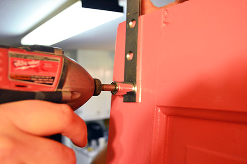 Installing Barn Door Hardware To Coral Door