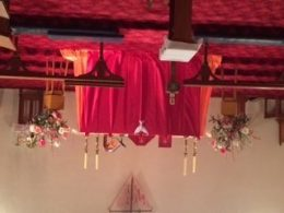 Decoration at All Saints' Dunedoo for the celebration of Pentecost.