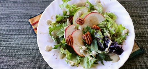 Apple and Pecan Nut Salad Wide