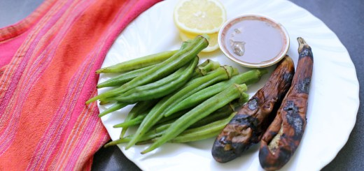 Nilagang Okra at Inihaw na Talong Wide