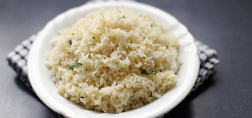 Butter Garlic Herb Rice Wide