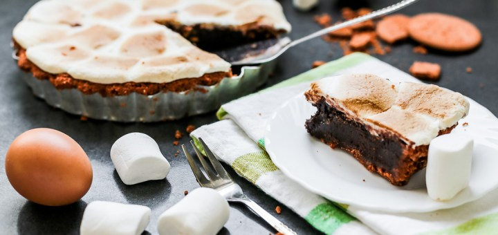Brownie Smores Pie Wide