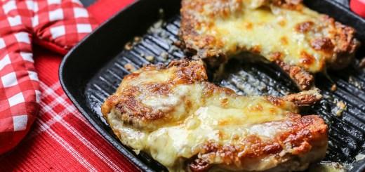 Cheese Stuffed Pork Chops Wide