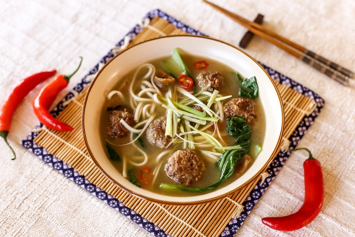 Spicy Meatball Udon Soup - Ang Sarap