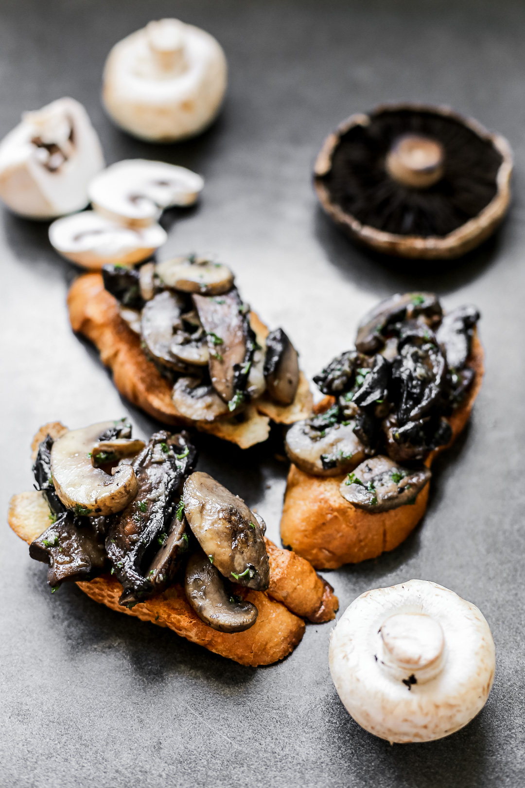 Double Mushroom Brushetta - Ang Sarap