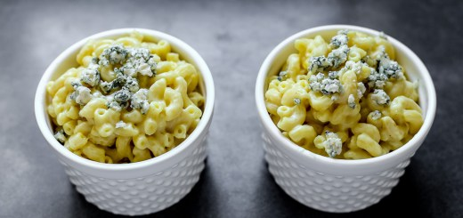 Mac and Blue Cheese Wide