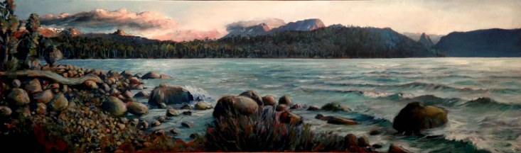 Lake St Clair (43 x 139 cm) - $2200 (SOLD)