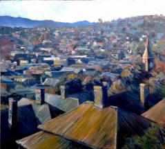 Sunday Morning, Launceston (50 x 53 cm) - $1400 (SOLD)