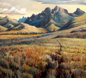 Eastern Arthur Range  near Strike Creek (55w x 50h) - $1400 (SOLD)