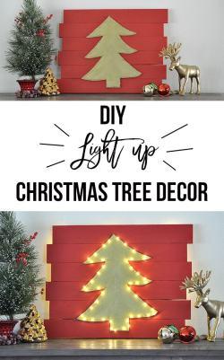 Gray And So Easy To Make Diy Led Wall Diy Wall Decor Idea Light Up Tree Diy Life Wall Decoration Ideas Classroom Wall Decoration
