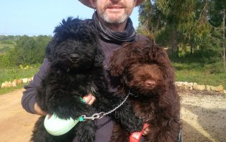 Alan with Baco and Shuba