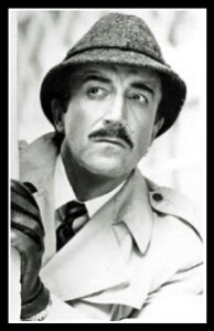 Peter Sellers as Inspector Clousseau in The Pink Panther.