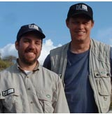 Adam Roberts (left) and Will Travers (right). [Born Free USA photo.]