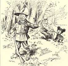The Clifford Berryman cartoon that inspired the creation of the teddy bear.