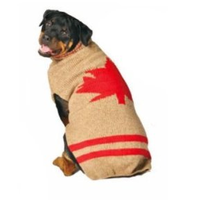 This dog, found at many web sites, appears to have been used first to sell Toronto Maple Leafs hockey team sweaters.