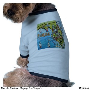 """Is this """"Florida Cartoon Map"""" dog looking over her shoulder for a fake service pit bull?"""