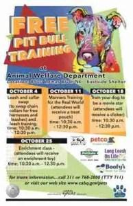 Free Pit Bull Training albuquerque