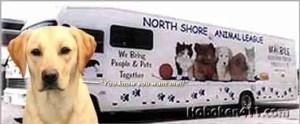 North Shore Animal League adoption van.