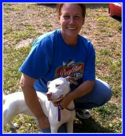 Beth Clifton as pit bull rescuer.