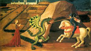 """""""St. George & the Dragon,"""" by Paolo Uccello (circa 1460)"""
