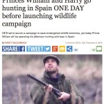 """Killing wildlife to try to cure cancer is """"corruption and criminality"""" says Prince William,  between hunting trips"""