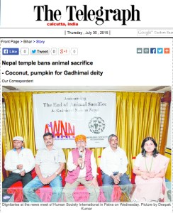 The Telegraph photo of Gadhi Mail signing
