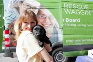 PetSmart Charities' Rescue Waggin' van.