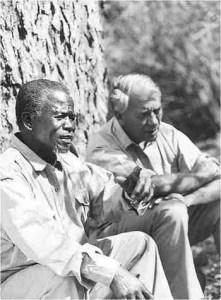 Magqubu Ntombela and Ian Player.