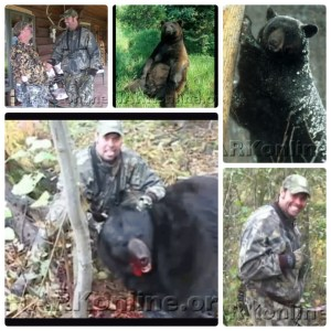 Troy Gentry & Cubby, the tame bear he killed. (Showing Animals Respect & Kindness photos)