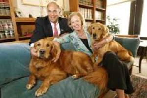 Former Pennsylvania Governor Ed Rendell; his former wife, Judge Marjorie Rendell; and their dogs, in 2007.