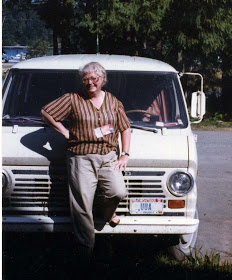 Mary Scriver was long since out of animal control when she posed with this van. (Facebook photo)