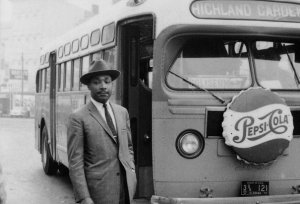 Martin Luther King Jr. during the Montgomery bus boycott.