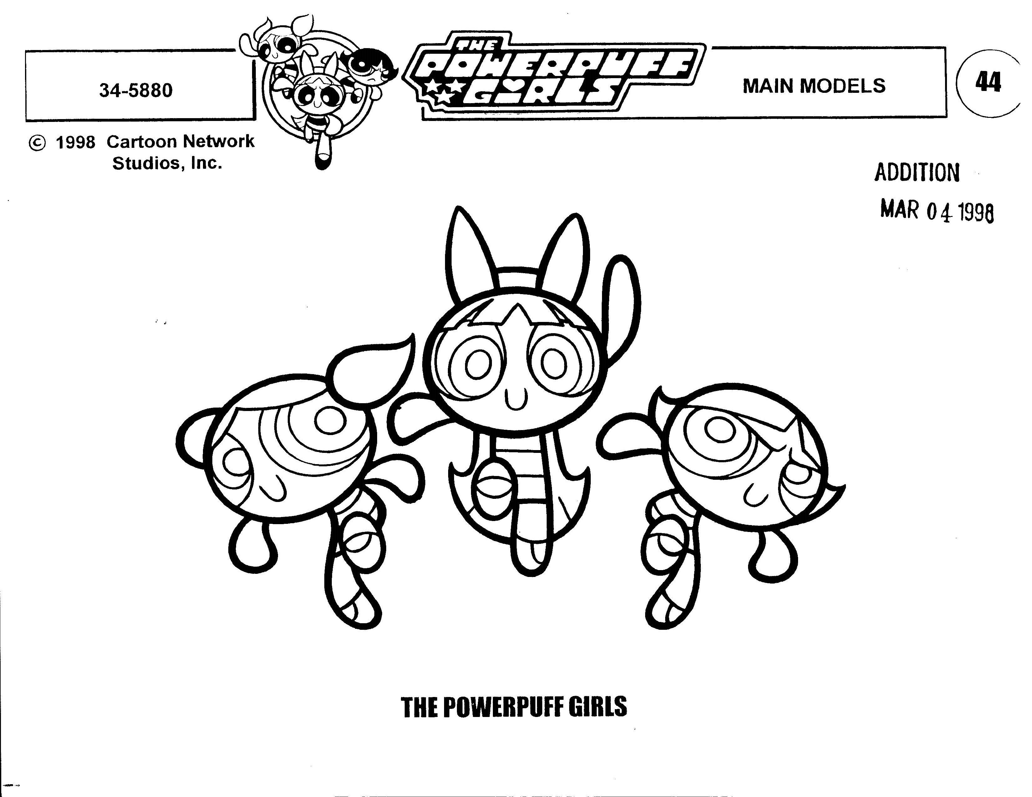 Model Sheet Monday: Powerpuff Girls/Dexter's Lab