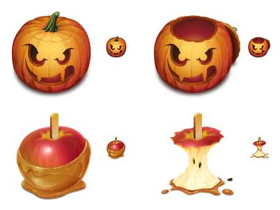 Pumkin or apple - both scary