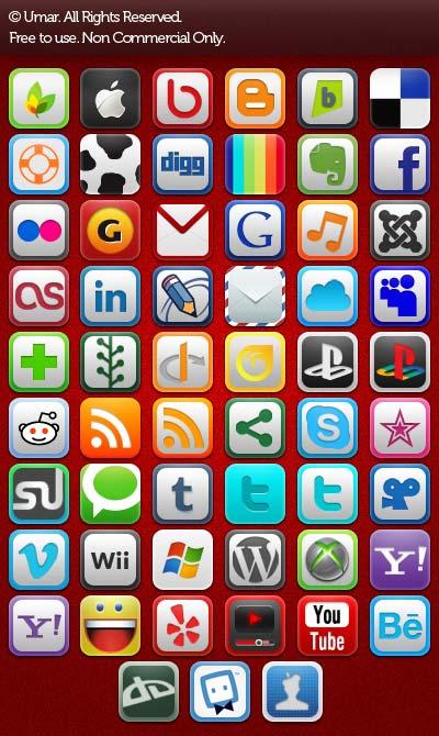 social and web icon set