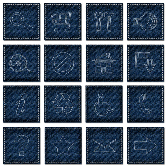 25 jeans style web UI icons
