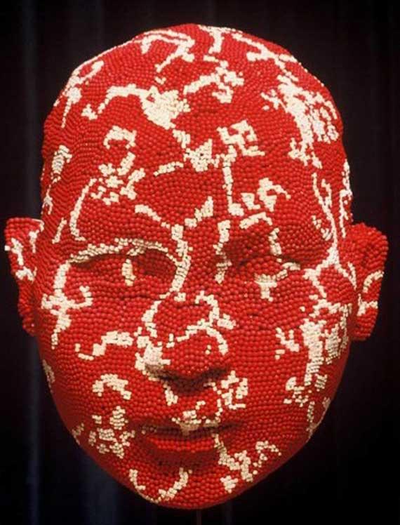 sculpture-matchheads and postcards